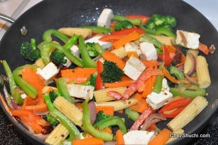 Stir Frying of vegetables